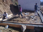 Himalayan village of Budhna 2015 - New classroom foundation under construction (click image to enlarge)
