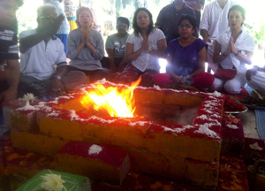 Mysore, India Fire Yagna