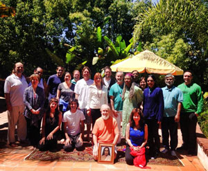 Participants of the second initiation and retreat in Redlands, California, May 11, 2014, with M.G. Satchidananda and Acharya Shantiananda  (click image to enlarge)