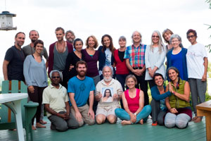 At the Quebec ashram, 16 students with 4 teachers at the Kriya Hatha Yoga Teacher Training program June 30 to                July 14, 2016