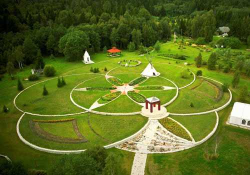 Flower of Life Park at Lilleoru Cummunity